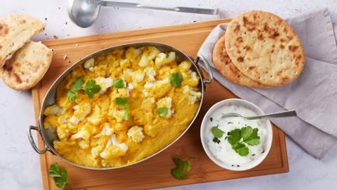Curry de lentilles et de chou-fleur