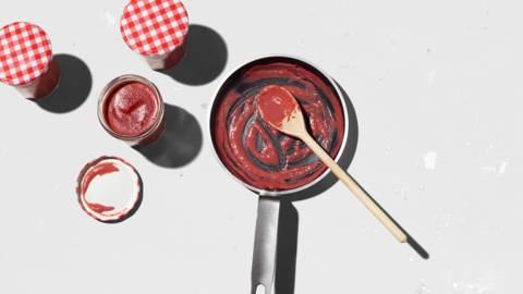 Confiture piment-framboises