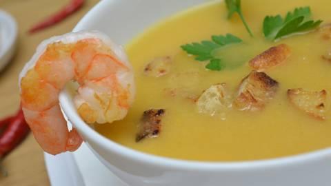 Sopa de Camarão potage portugais aux crevettes