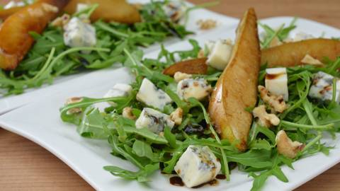 Salade de roquette au gorgonzola