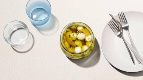 Mozzarella marinée