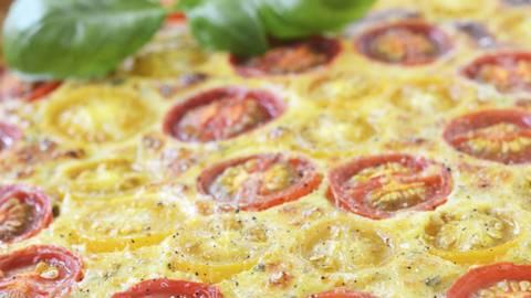 Quiche fromage et tomates cerises