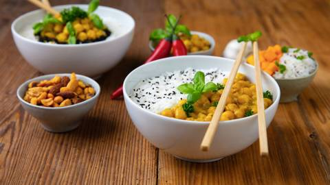 Curry végan de potiron et pois chiches