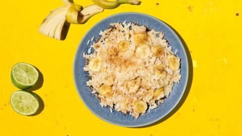 Poêlée de riz à la banane