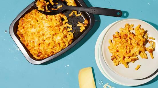 Macaronis au fromage et au poivron