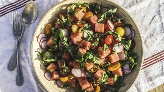 Salade de pastèque à la mélisse