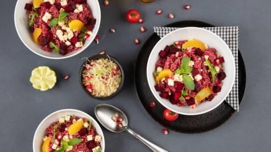 Bowl de quinoa et betterave rouge