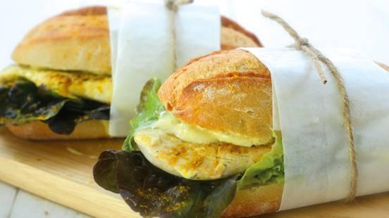 Sandwich chaud au poulet