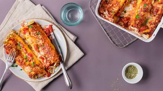Cannelloni al forno farcis aux courgettes