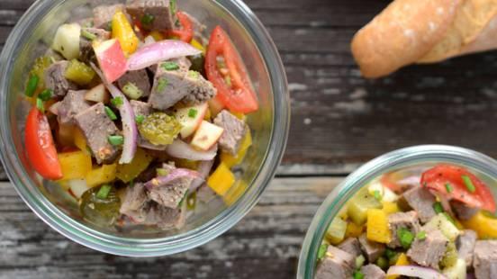 Salade de bouilli de bœuf