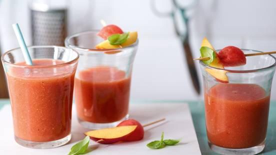 Smoothie melon-basilic au thé rooibos