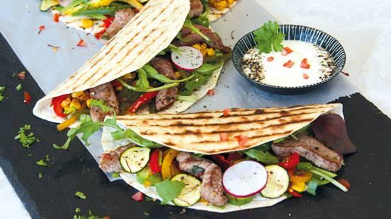 Tortillas à la viande de bœuf de pâturage bio