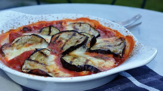 Gratin d'aubergines au barbecue