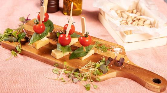 Brochettes tomates/fromage