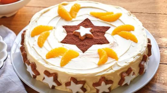 Gâteau de Noël étoilé