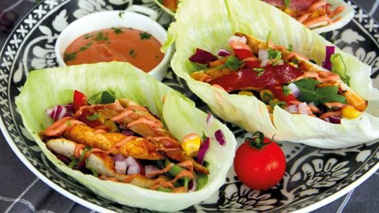 Wraps de salade au poulet