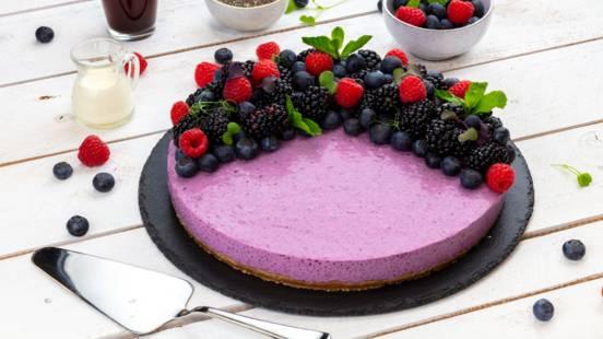 Gâteau d'été aux myrtilles et graines de chia