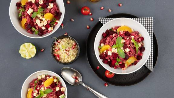 Bowl de quinoa et betterave rouge
