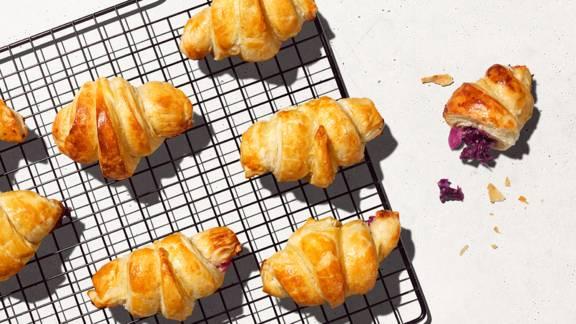 Croissants au chou rouge