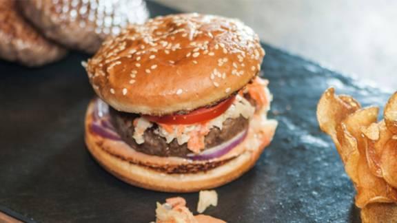 Hamburger au steak de boeuf