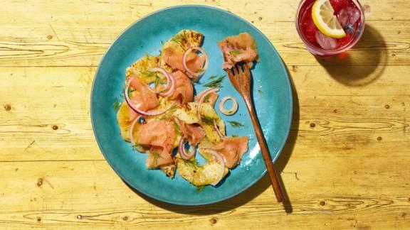 Carpaccio de saumon et d'ananas