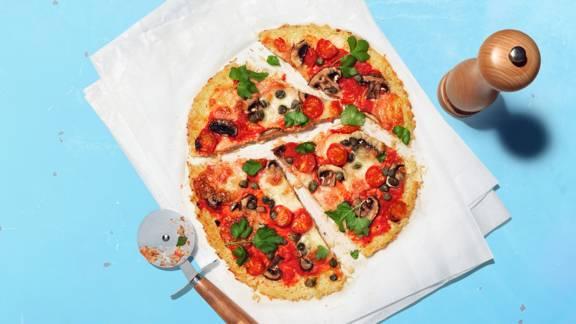 Pizza au riz aux saveurs du monde