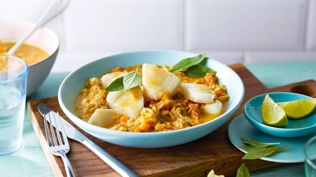 Curry asiatique de poisson