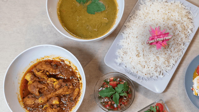 Family Food Fight: Assiette de morgh chalau