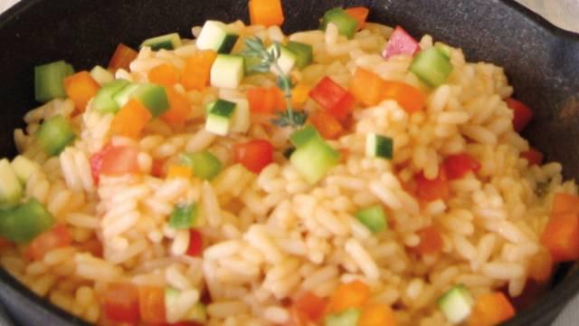 Riz pilaf aux dés de légumes