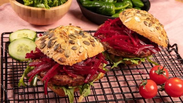 Burgers végétariens aux betteraves