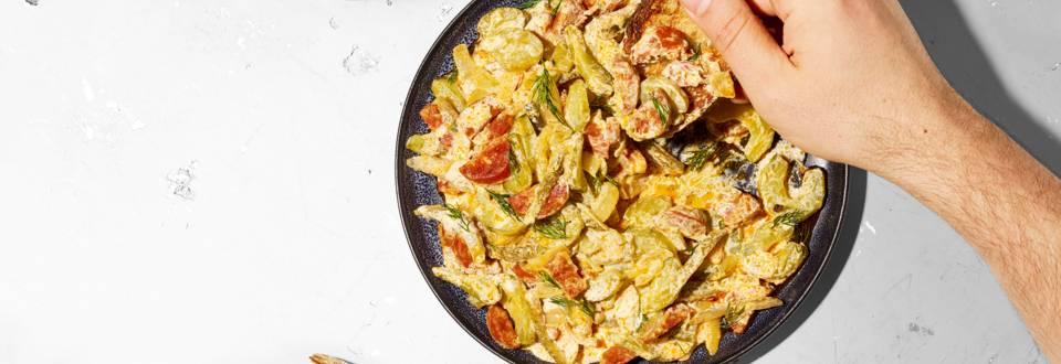 Ragoût de concombre et cornichons