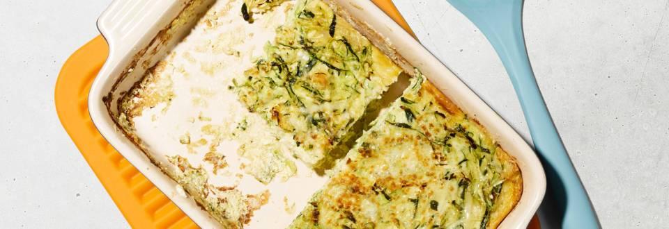 Frittata courgettes et pain de mie