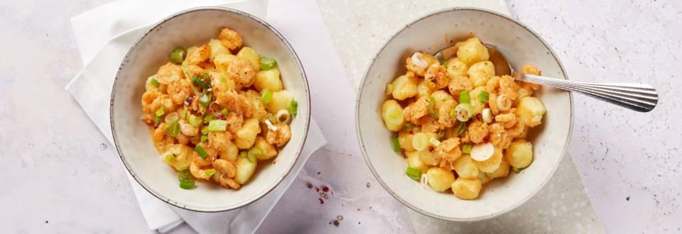 Gnocchis aux crevettes à la crème