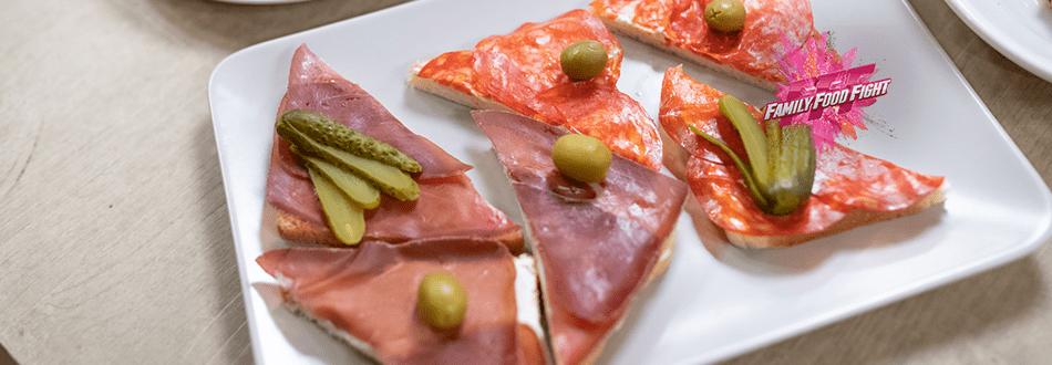 Family Food Fight: Tartine au jambon cru et au salami