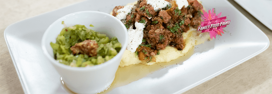Family Food Fight: Gröstel de saucisson avec purée de pommes de terre et poireaux