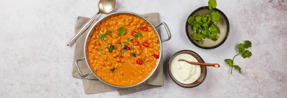 Curry de pois chiches à la noix de coco