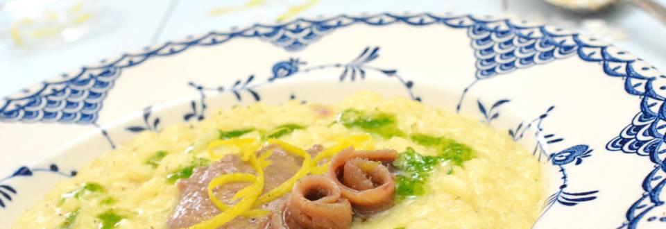 Risotto aux anchois et à l'huile de persil