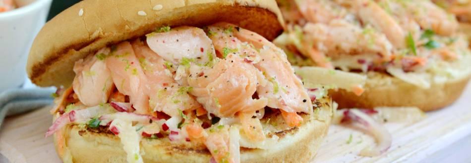 Burger à la truite saumonée