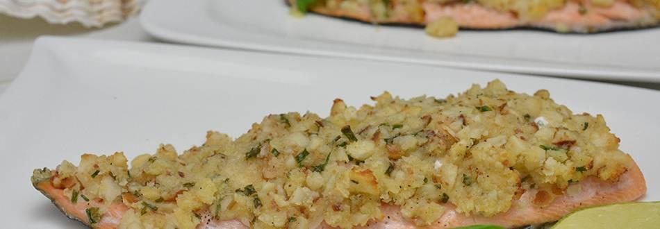 Truite saumonée aux noix de macadamia