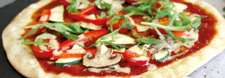 Pizza végane aux champignons