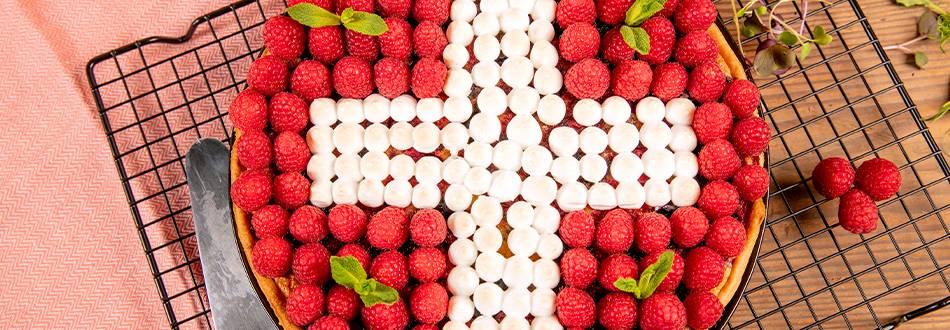 Tarte aux fruits rouges meringuée du 1er août
