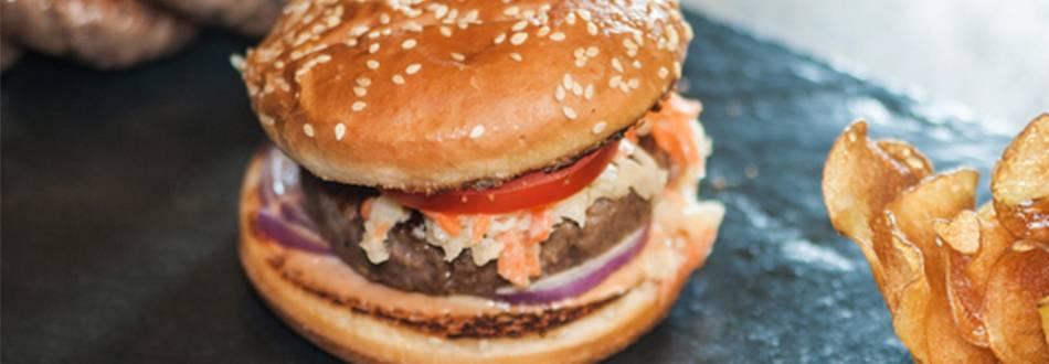 Hamburger au steak de bœuf