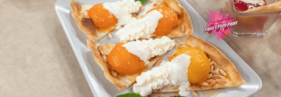Family Food Fight: Pêches et abricots flambés sur feuilleté