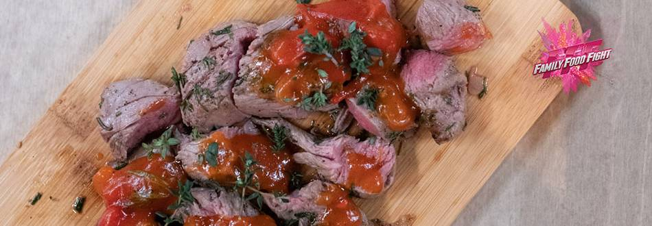 Family Food Fight: Filet d'agneau avec chutney de tomates