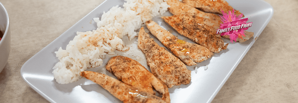 Family Food Fight: Pouletstreifen mit Reis