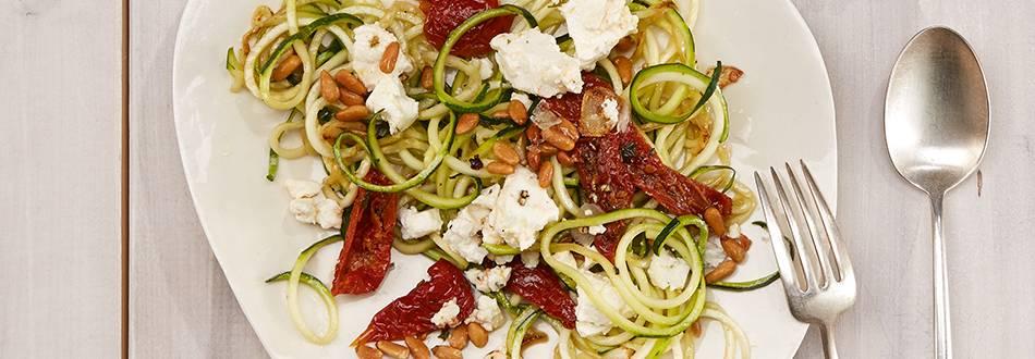 Spaghettis de courgettes à la feta