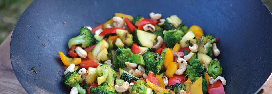 Wok de légumes au barbecue