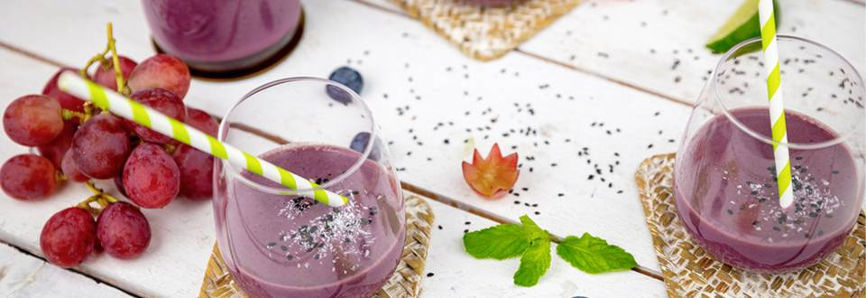 Smoothie myrtille/raisin