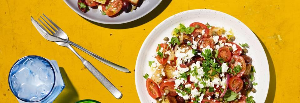 Salade grecque croustillante